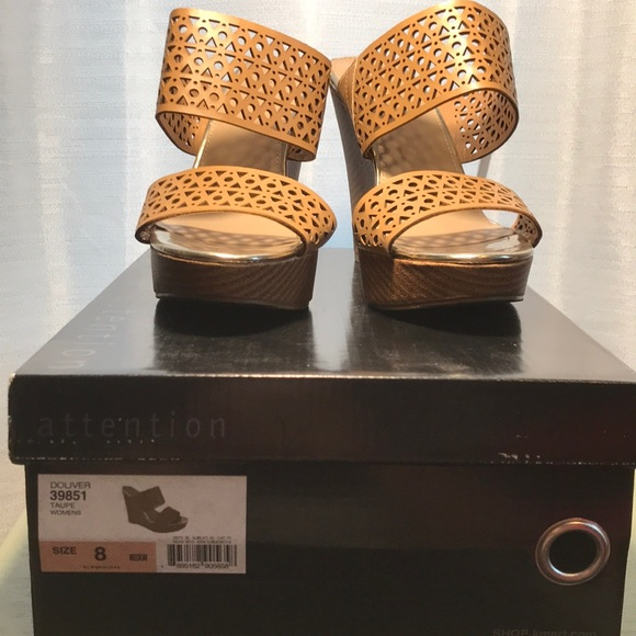 attention Shoes - NWB brand new slip on wedges